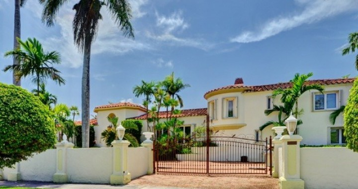 luxury 7 bedroom spanish style vacation villa private pool miami
